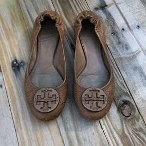 Tory Burch | brown leather flats size 7.5